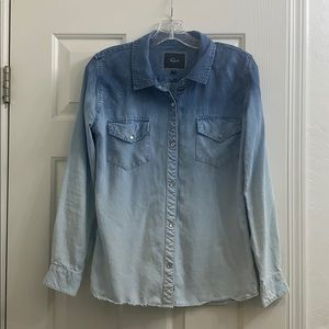 Rails ombré chambray snap button size small